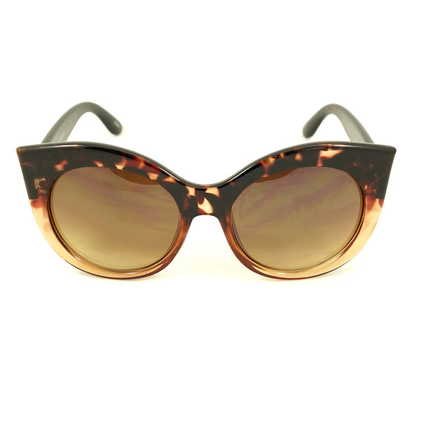 Brown Point Cat Eye Sunglasses