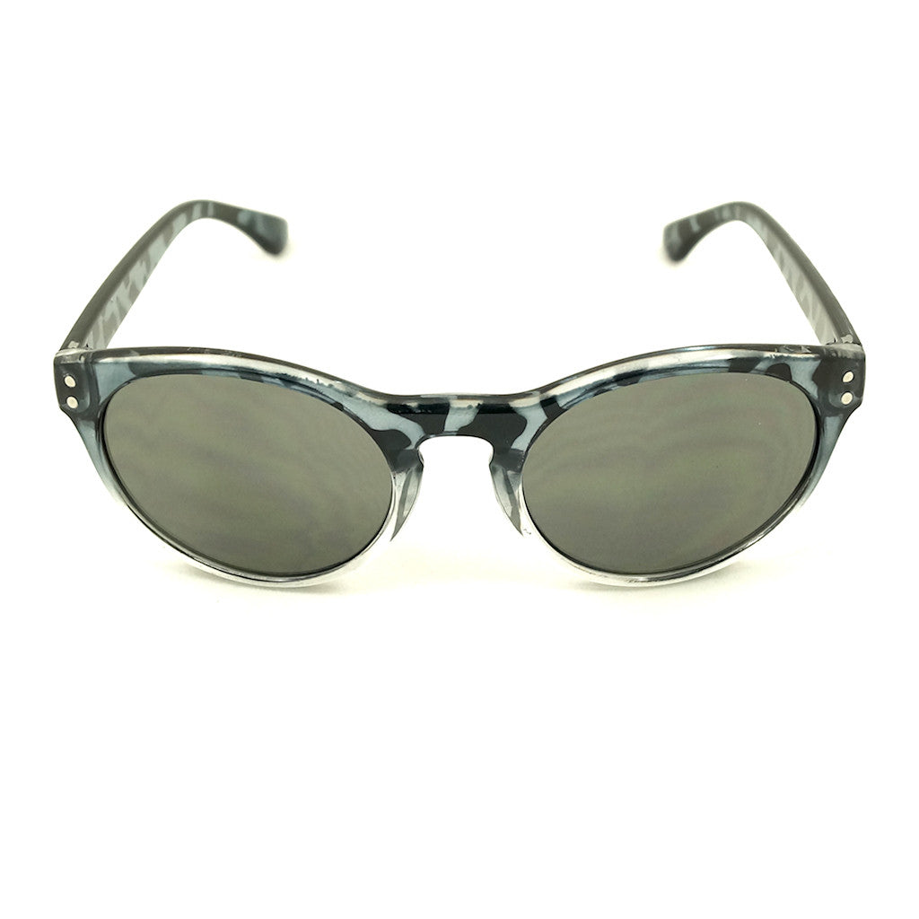 Gray Retro Round Sunglasses by LA Sunglasses : Cats Like Us