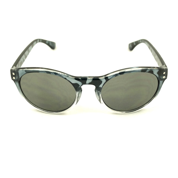 Gray Retro Round Sunglasses