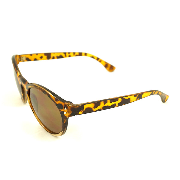 LA Sunglasses Tan Retro Round Sunglasses for sale at Cats Like Us - 2