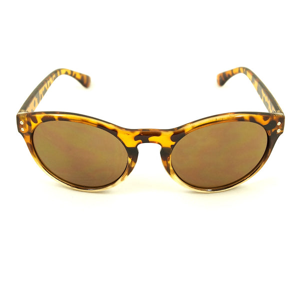 Tan Retro Round Sunglasses