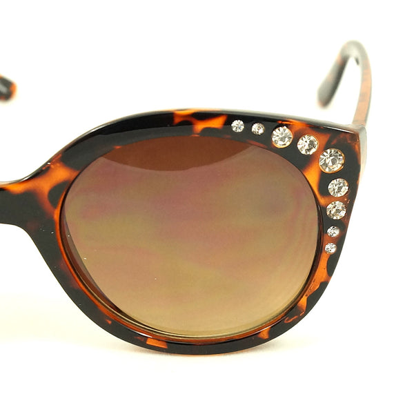 LA Sunglasses Tortoise Bling Round Sunglasses for sale at Cats Like Us - 2