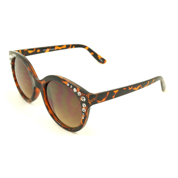 LA Sunglasses Tortoise Bling Round Sunglasses for sale at Cats Like Us - 3