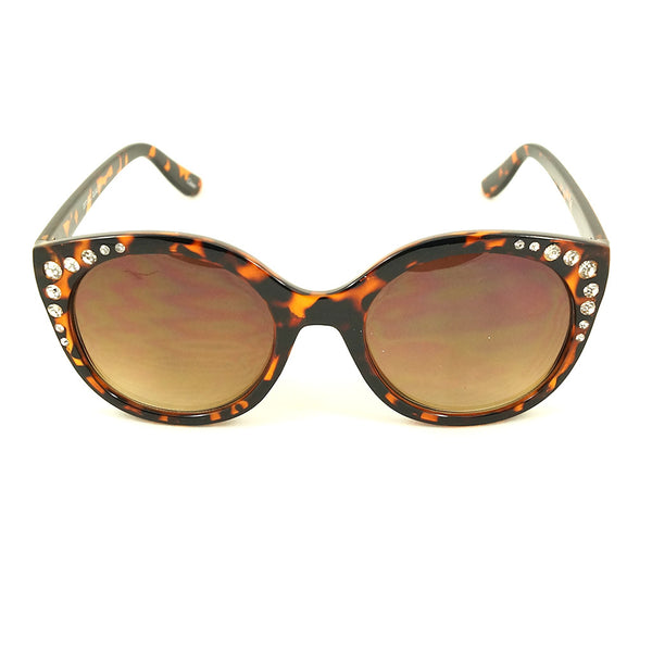 LA Sunglasses Tortoise Bling Round Sunglasses for sale at Cats Like Us - 1