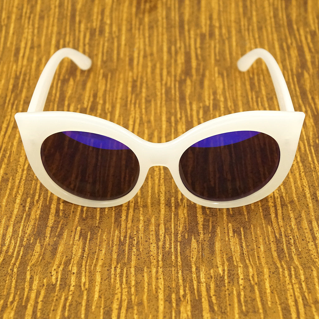LA Sunglasses White Point Cat Eye Sunglasses for sale at Cats Like Us - 1