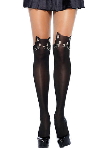 Black Cat Tights by Leg Avenue - Cats Like Us