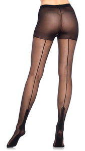 Black Havana Heel Pantyhose - Cats Like Us