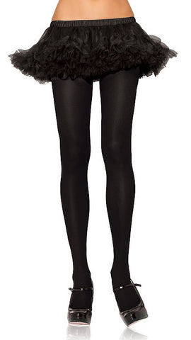 Black Nylon Polyester Tights - Cats Like Us