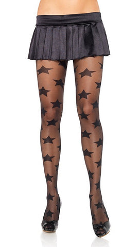 Black Sheer Star Pantyhose by Leg Avenue : Cats Like Us