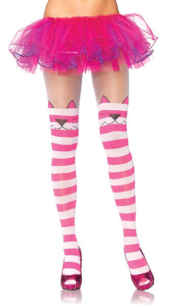 Cheshire Cat Striped Tights - Cats Like Us