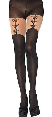Faux Bows Garterbelt Pantyhose by Leg Avenue : Cats Like Us