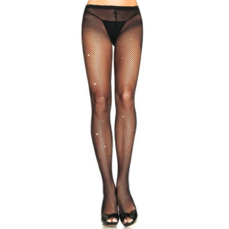 Fishnets w All Rhinestones by Leg Avenue : Cats Like Us