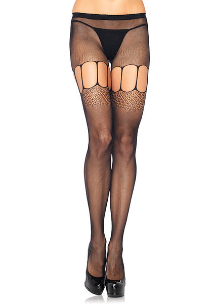 Micro Net w Cut Out Pantyhose