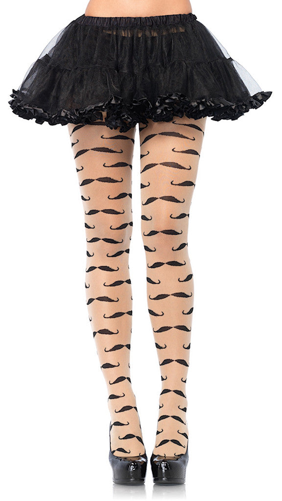 Mustache Sheer Pantyhose by Leg Avenue : Cats Like Us