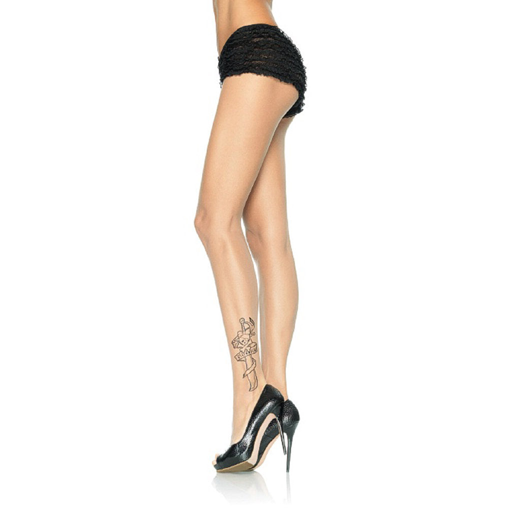 Mutiny Tattoo Print Pantyhose by Leg Avenue