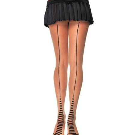 Nude Pantyhose w Striped Heel by Leg Avenue : Cats Like Us