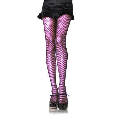 Purple Fishnet Industrial Panty - Cats Like Us
