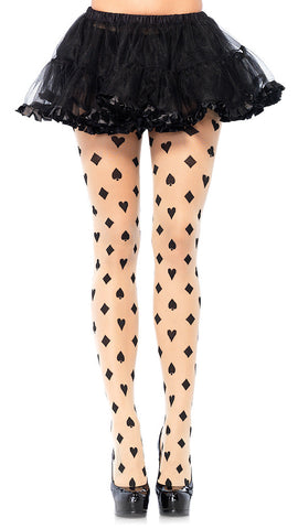 Sheer Card Suit Pantyhose by Leg Avenue : Cats Like Us