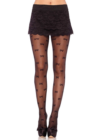 Sheer Vintage Bow Pantyhose by Leg Avenue : Cats Like Us