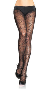 Leg Avenue Spiderweb Lace Pantyhose for sale at Cats Like Us