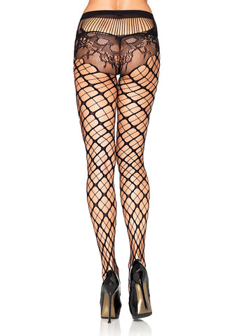 Leg Avenue Trellis Net Pantyhose for sale at Cats Like Us