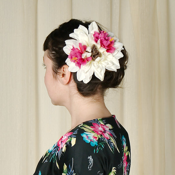 Hula Tiki Hair Flower by Lila Jo : Cats Like Us