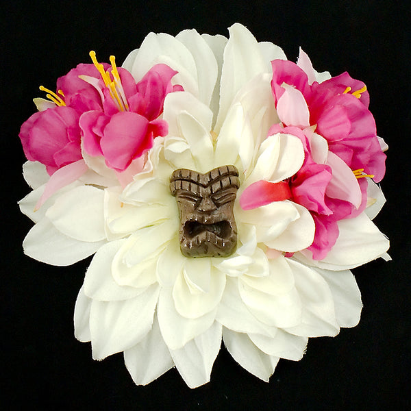 Hula Tiki Hair Flower