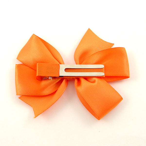 Little Lily Designs Orange Satin Hair Bow for sale at Cats Like Us - 2