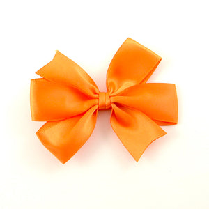Orange Satin Hair Bow - Cats Like Us