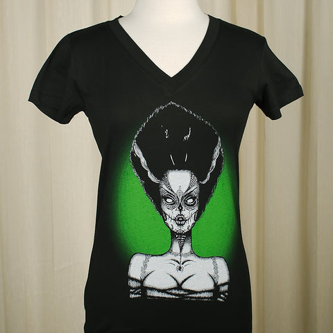 Stebbins Dead Bride V Neck T by Lowbrow Art Co