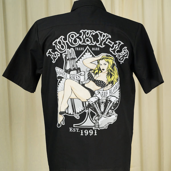 Blonde Jenn Work Shirt by Lucky 13 : Cats Like Us
