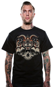 Evil Wheel Devil T Shirt by Lucky 13 : Cats Like Us