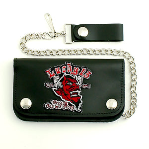 Grease and Glory Chain Wallet - Cats Like Us