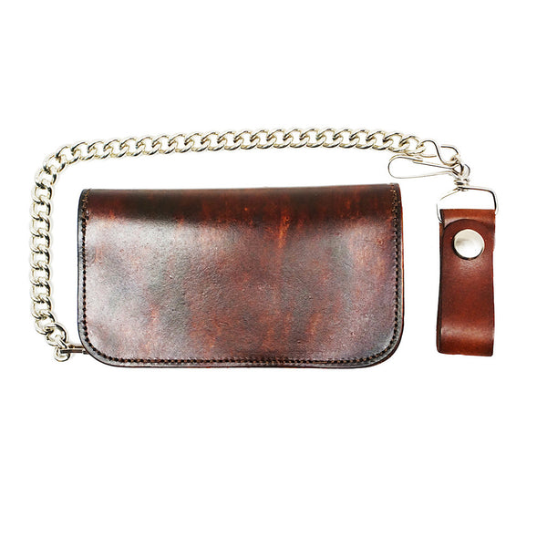 Lucky 13 No Riders Embossed Chain Wallet for sale at Cats Like Us - 4