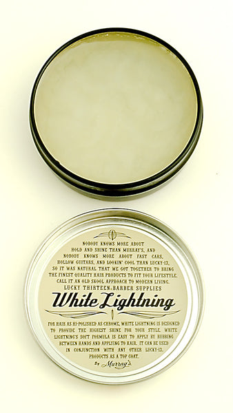 Lucky 13 White Lightning Light Pomade for sale at Cats Like Us - 2