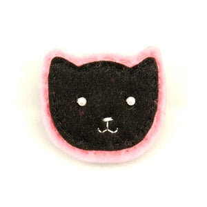 Black Kitty Pin in Pink by Lumpy Buttons : Cats Like Us