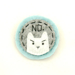 Lumpy Buttons Blue and White NO Kitty for sale at Cats Like Us - 1