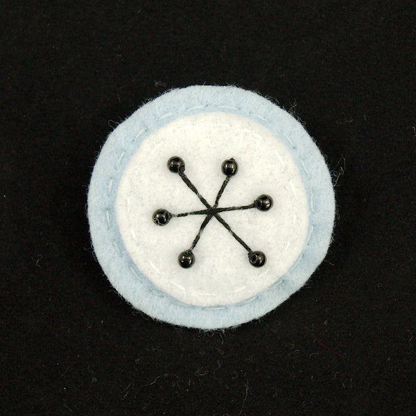 Blue Small Atomic Starburst Pin by Lumpy Buttons : Cats Like Us