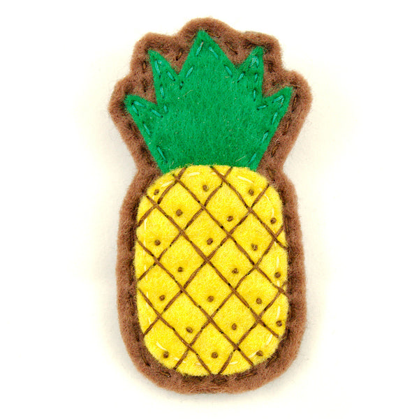 Cute Pineapple Pin Brooch by Lumpy Buttons : Cats Like Us