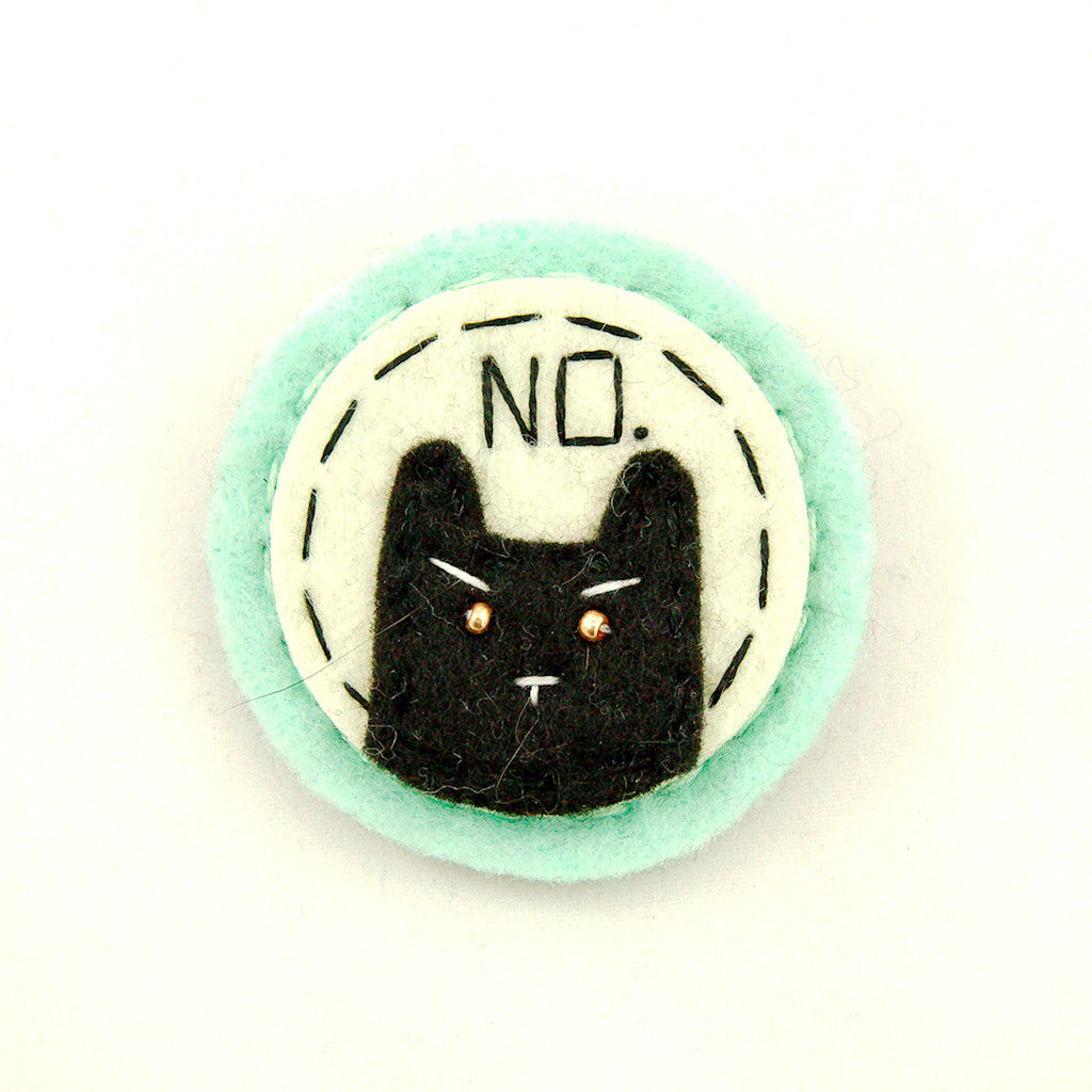 Lumpy Buttons Mint and Black NO Kitty for sale at Cats Like Us - 1