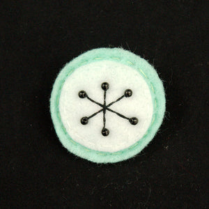 Mint Small Atomic Starburst Pin by Lumpy Buttons : Cats Like Us