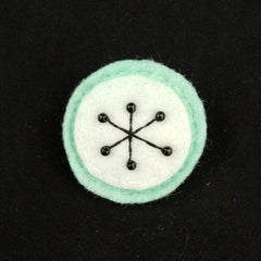 Mint Small Atomic Starburst Pin