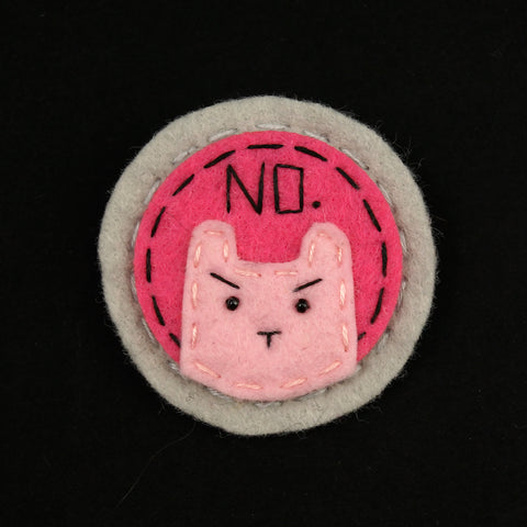 Pink on Pink NO Kitty Brooch - Cats Like Us