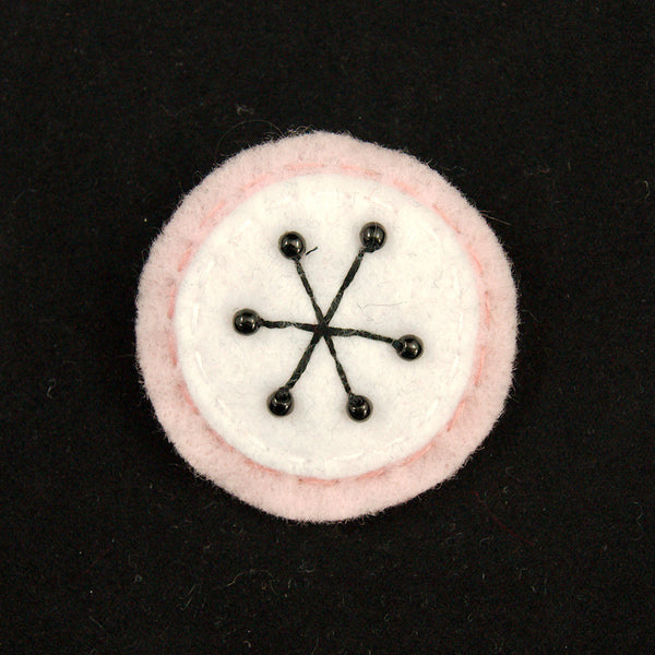 Lumpy Buttons Pink Small Atomic Starburst Pin for sale at Cats Like Us - 1