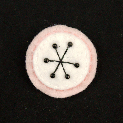 Pink Small Atomic Starburst Pin by Lumpy Buttons : Cats Like Us