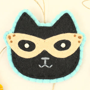 Retro Black Kitty Ornament