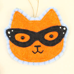 Retro Orange Kitty Ornament