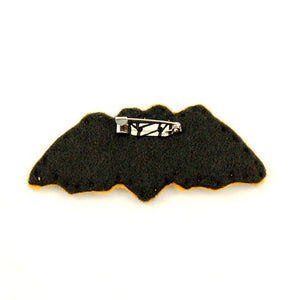 Very Eerie Black Bat Pin by Lumpy Buttons : Cats Like Us