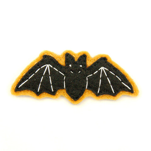 Very Eerie Black Bat Pin - Cats Like Us