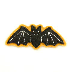 Very Eerie Black Bat Pin